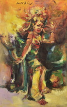 Antonio BLANCO - Painting - Ni Rondji Dancing a Pendet Dance