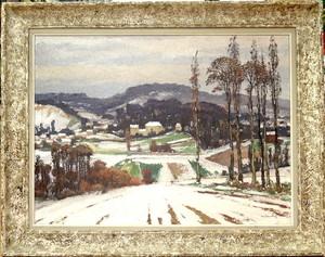 Gaston BALANDE - Painting - Neige à Palaiseau