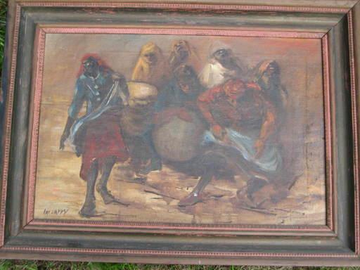 Epifanio IRIZARRY JUSINO - Pittura - BAILE DE BOMBA Y PLENA