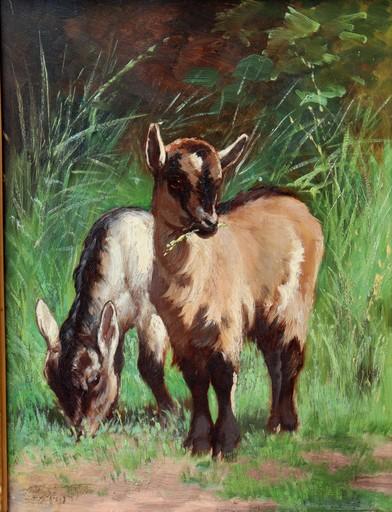 """Alexandre CLARYS - Painting - """"LES CHEVREAUX"""""""