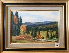 Raymonde AUBRY - Painting - Automne dans le Haut-Jura