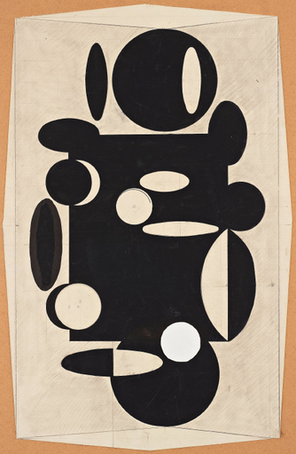 Victor VASARELY - Dibujo Acuarela - Untitled.