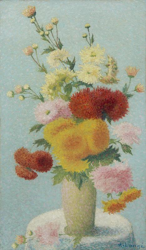 Achille LAUGÉ - Peinture - Chrysanthèmes dans un vase