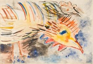 Vladimir Igorevich YAKOVLEV - Dibujo Acuarela - Yellow Rooster