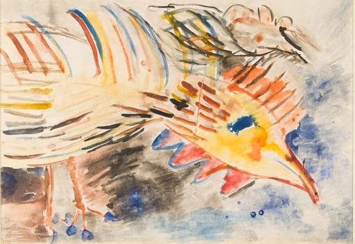 Vladimir Igorevich YAKOVLEV - Zeichnung Aquarell - Yellow Rooster