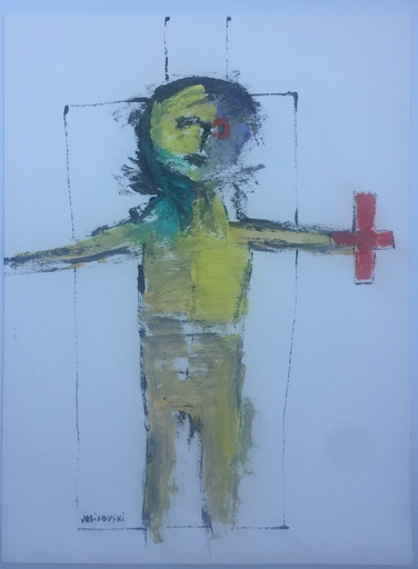 Stéphane JOSIFOVSKI - Disegno Acquarello - L'HOMME BLESSE