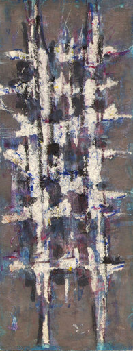 Maurice MOREL - Drawing-Watercolor - Abstrakte Komposition