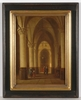 Pierre Henri T. TETAR VAN ELVEN - 绘画 - Church Interior, oil on panel, 2 H. of the 19th Century