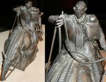 Robert LERIS - Sculpture-Volume - Le cavalier fantastique