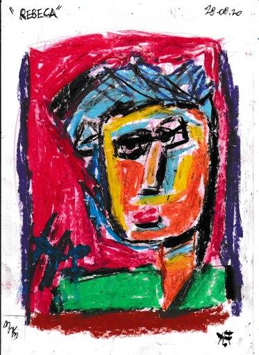 Harry BARTLETT FENNEY - Disegno Acquarello - beca