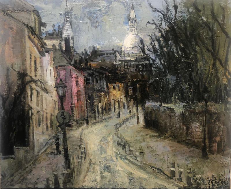 Gilbert PECOUD - Pittura - Paris Montmartre
