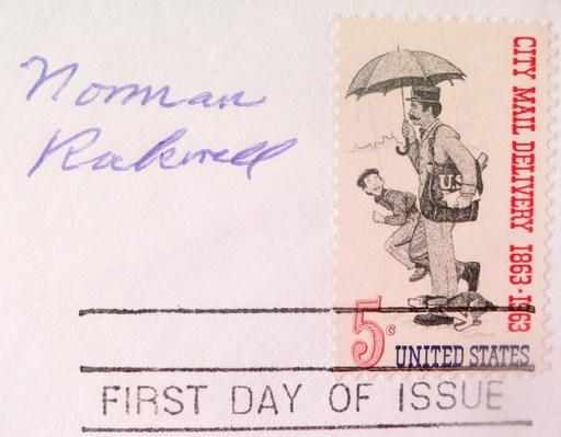 Norman Perceval ROCKWELL - Grabado - Association Nationale Américaine des Postiers