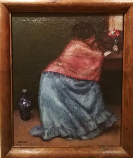 Isidro NONELL Y MONTURIOL - Pintura - Mujer leyendo una carta