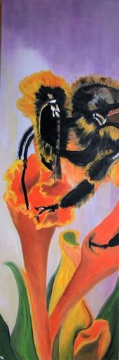 Brigitte MATHÉ - Peinture - Butineuse