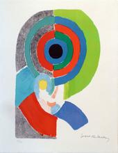 Sonia DELAUNAY-TERK - Estampe-Multiple - Composition pour un autoportrait