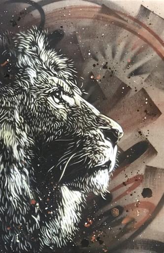C215 - Peinture - Lion