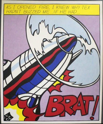 Roy LICHTENSTEIN - Grabado - As I opened fire (Tryptic)