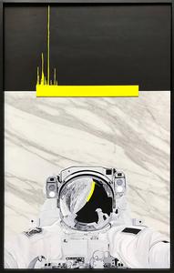 Laurent MINGUET - Gemälde - Ultra Yellow - Série Abstract Gravity