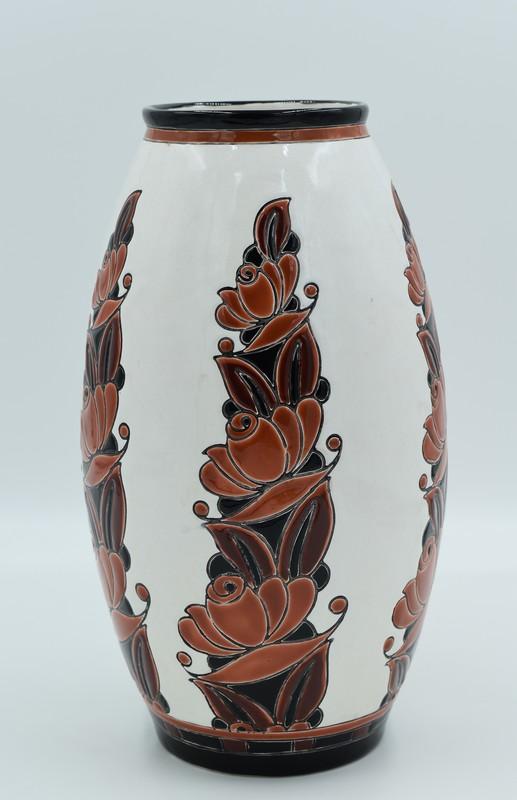 Charles CATTEAU - Grand vase ovoïde