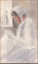 Camille PISSARRO - Drawing-Watercolor - Portrait of Julie (the artist's wife)