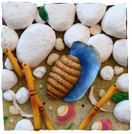 Piero GILARDI - Sculpture-Volume - Conchiglia azzurra