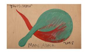 Marc ABELE - Painting - BETWEEN, Acrylic color on beechwood board, 30 x 50 cm, 2018