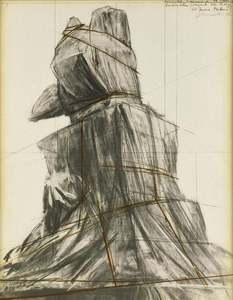CHRISTO - Print-Multiple - Wrapped monument to Vittorio Emanuele