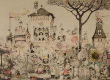 Charles BRAGG - Grabado - The Garden of Eros