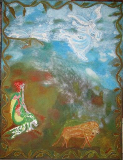 ATCHAMA - Painting - pouvoir de l'Ange 1