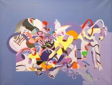 Jacques CINQUIN - Painting - Le milieu cycliste