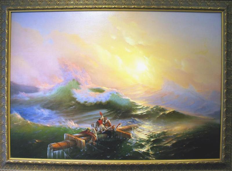 Ivan Constantinovich AIVAZOVSKY - Pintura - The Ninth Wave