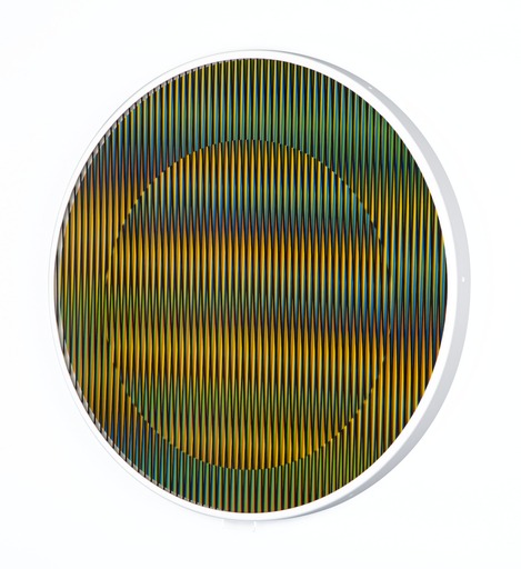 Carlos CRUZ-DIEZ - Print-Multiple - Chromointerference Manipulable Circulaire B