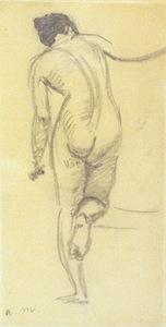 Albert MARQUET - Drawing-Watercolor - Nude from behind / Nue de dos