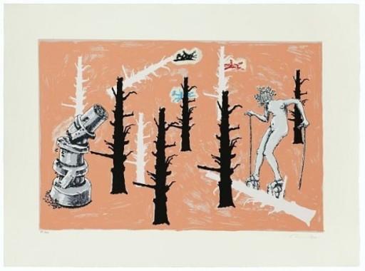 约尔格·伊门多夫 - 版画 - Schwarzes Schaf