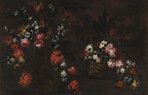 Elisabetta MARCHIONI - Pittura - Natura morta con cesta di fiori