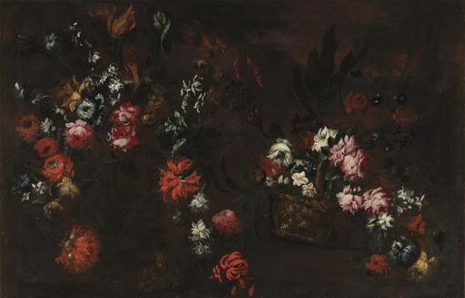 Elisabetta MARCHIONI - Pintura - Natura morta con cesta di fiori