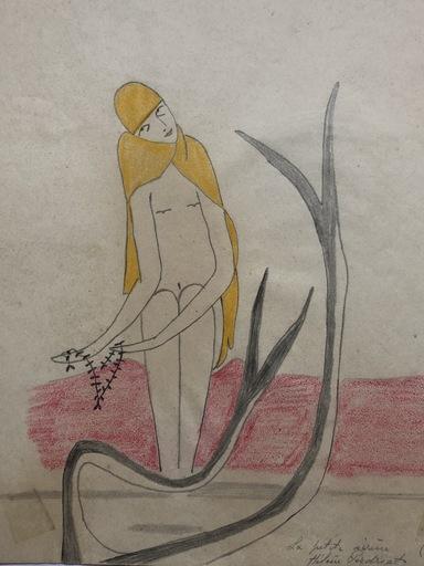 Hélène PERDRIAT - Dibujo Acuarela - LA PETITE SIRENE 1915