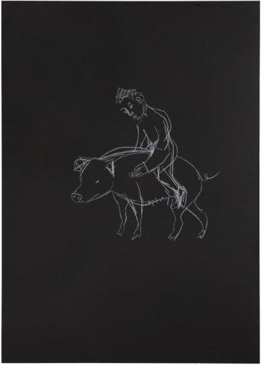 Stephan BALKENHOL - Pittura - Pig
