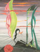 Pavel TCHELITCHEW - Painting - Surrealist Landscape