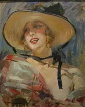 Cipriano Antonio MANNUCCI - Pintura - Donna con cappello
