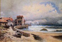 Emile GODCHAUX - Pintura - Tempête sur la côte à Ciboure – Pays Basque