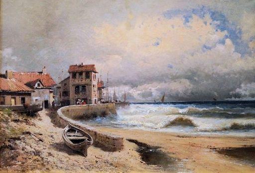 Emile GODCHAUX - Painting - Tempête sur la côte à Ciboure – Pays Basque