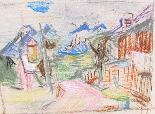 Erich HARTMANN - Dibujo Acuarela - #19953: Berglandschaft.