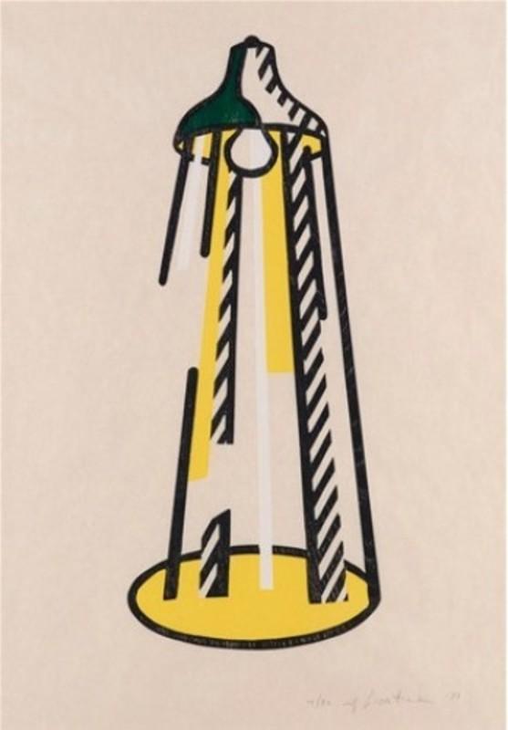 Roy LICHTENSTEIN - Stampa-Multiplo - Lamp
