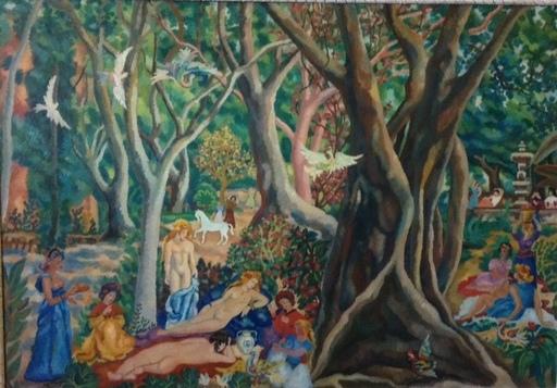 Auguste HARZIC - Pintura - le jardin des délices