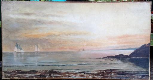Augusto BALLERINI - Painting - Paisaje costero
