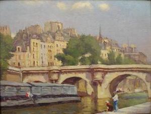 L. NOIREAUT - Pittura - Le Pont Neuf