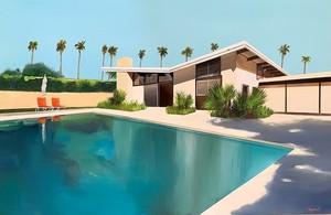 Daniel RAYNOTT - Painting - Palm Springs retreat