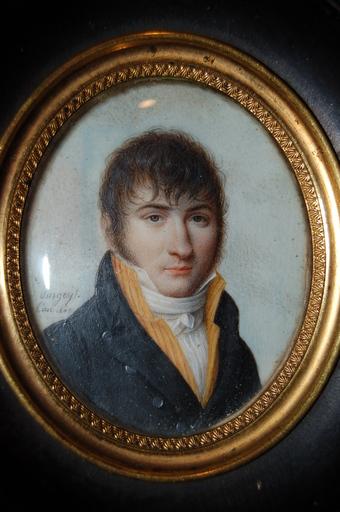 Jean-Baptiste SINGRY - Miniatura - portrait d'homme en redingote