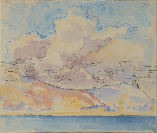 Georges LEMMEN - Drawing-Watercolor - La Mer et le ciel
